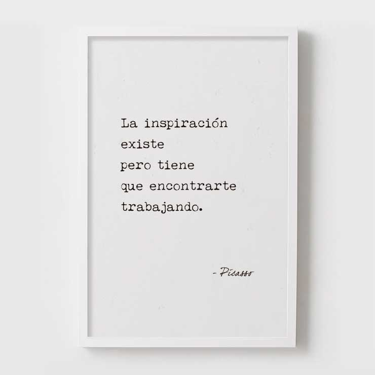 FRASE - PICASSO